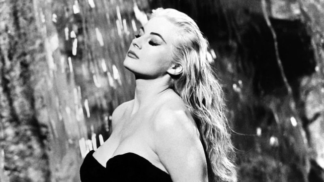 Anita Ekberg se atribuía el éxito de Fellini