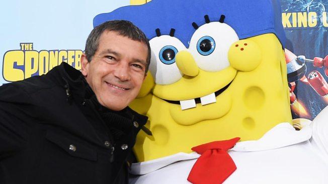 Antonio Banderas de villano contra SpongeBob