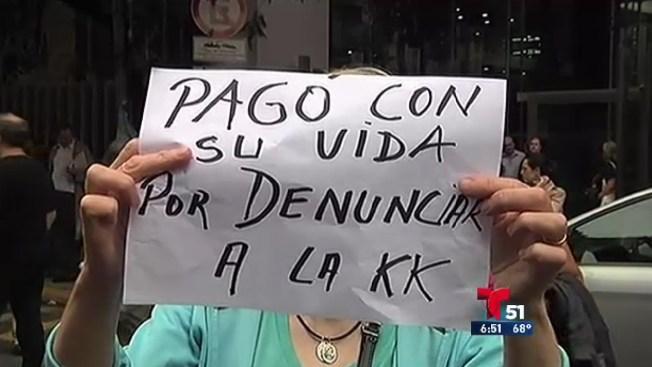 Protestas por muerte de fiscal argentino