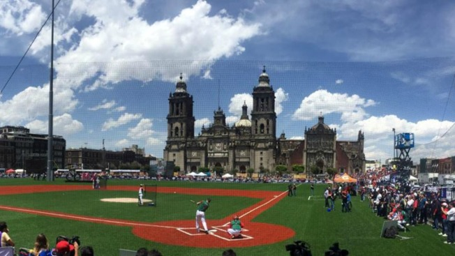 Zócalo de México, diamante del Home Run Derby