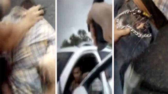 En video impresionante detención entre gritos