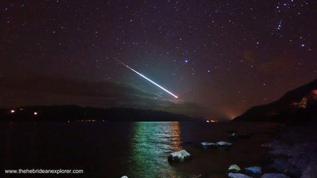 Gran asombro: meteorito sobre Loch Ness