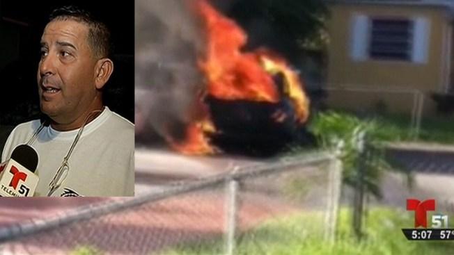 Hialeah: le incendian su auto por segunda vez