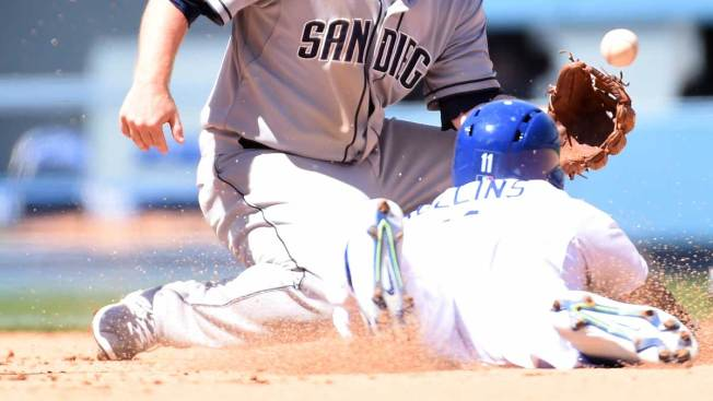 Rollins le da triunfo a Dodgers sobre Padres