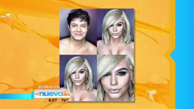 ¡Papá se transforma en Kim Kardashian!