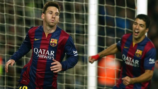 Messi logra triunfo del Barcelona a último minuto