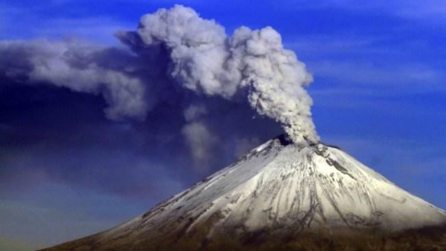 El volcán Popocatépetl intensifica su actividad