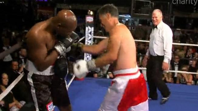 La caridad ganó en pelea Romney vs Holyfield