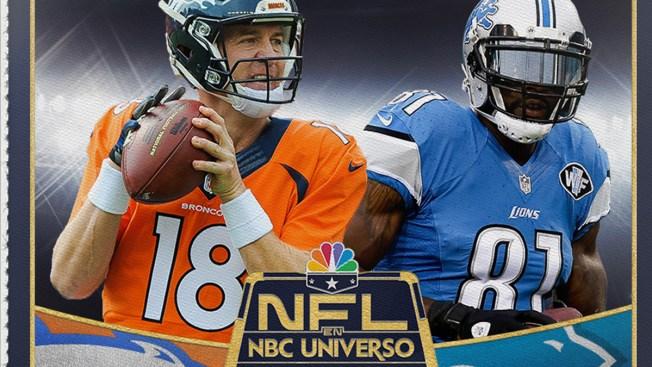 NFL: Broncos-Lions en español por NBC Universo