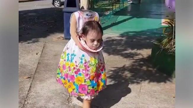 En Video Nina Causa Espanto Con Su Disfraz De Halloween Telemundo 51 - Disfraces-sin-cabeza