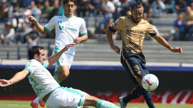 Pumas empata con Santos y Puebla gana a Dorados