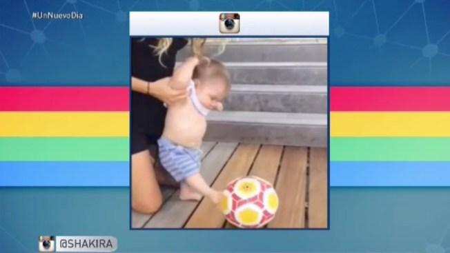 Hijo de Shakira y Piqué le da a la pelota