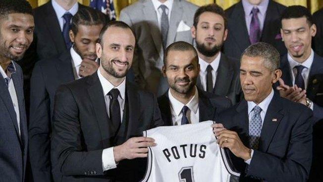 Los Spurs visitan a Obama en la Casa Blanca