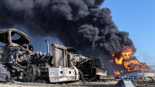 Refinería venezolana, en llamas