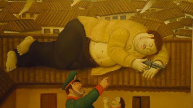 La muerte de Escobar, por Botero