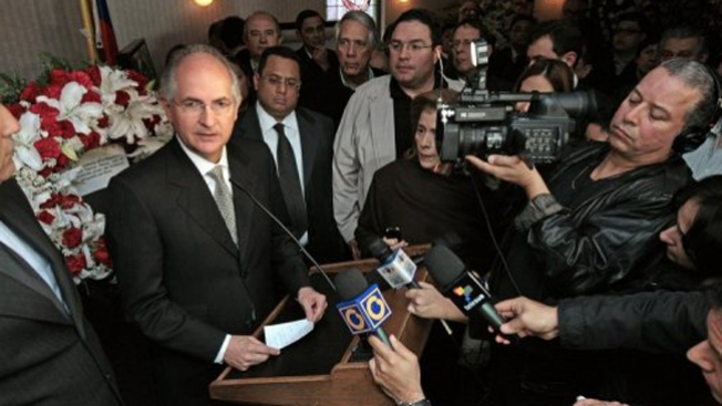 Alcalde de Caracas retira postulación