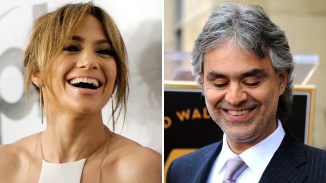J.Lo y Bocelli realizan explosivo dueto