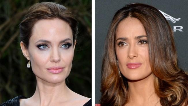 Angelina y Salma dan ejemplo de ayuda