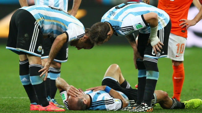 La final, Argentina parece un hospital