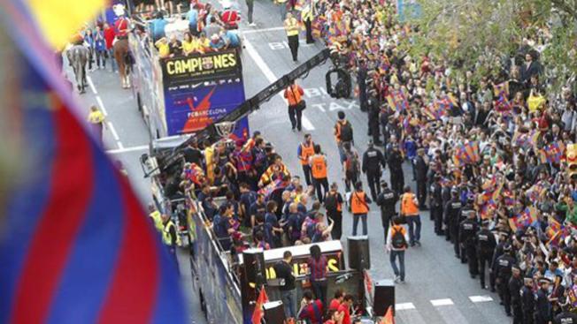 Barcelona festeja la liga a lo grande