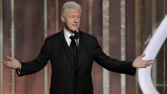 Clinton sorprende en los Golden Globes