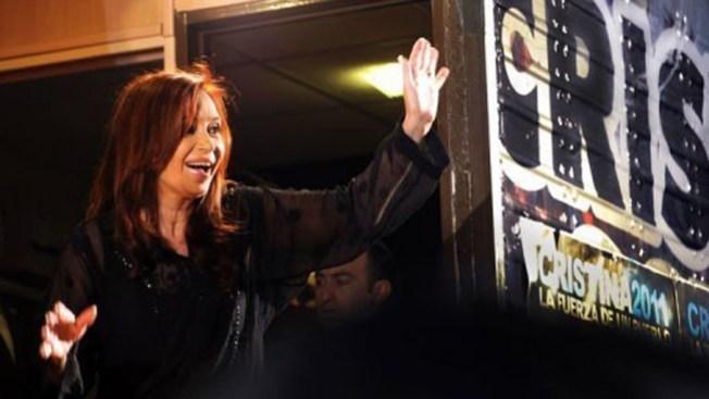 Cristina Kirchner festeja reelección
