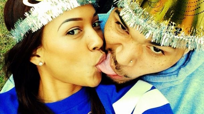 El 'selfie' de Año Nuevo de Chris Brown