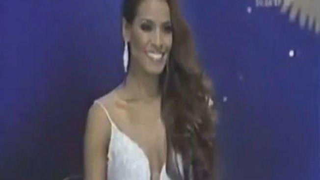 El trompazo de una Miss colombiana