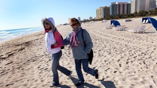 Se espera frente frío en el Sur de la Florida