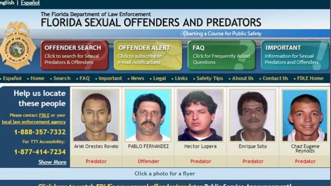 Delincuentes sexuales en mi area