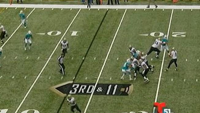 Los Dolphins caen ante los Saints