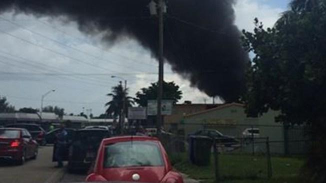 Miami: explosión en una gasolinera