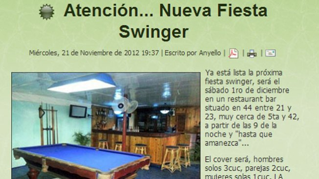 Cuba: ¿quiénes son los swingers?
