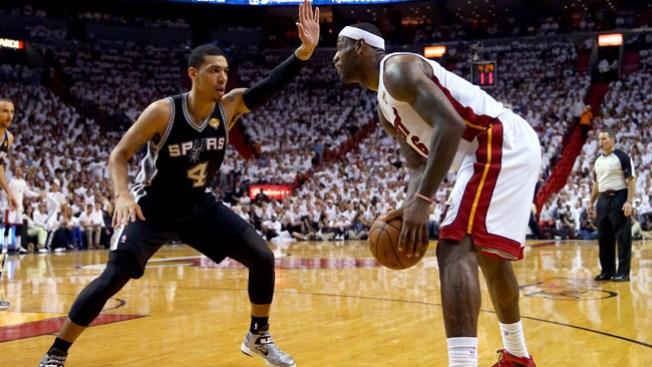 Victoria de los Heat frente a los Spurs