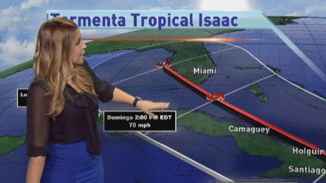 Isaac enfila hacia Cuba y Florida