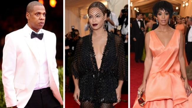 """Jay-Z, Beyonce y Solange """"unidos"""""""