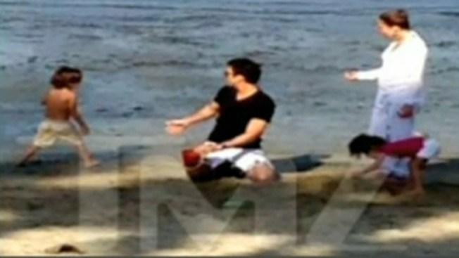 J.Lo se apodera de playa pública