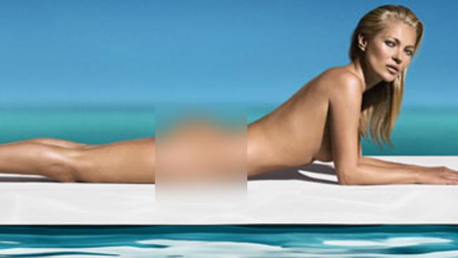 Kate Moss desnuda en un anuncio