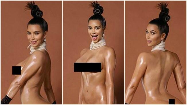 Kim Kardashian, ahora desnudo frontal