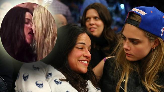 Michelle Rodríguez y amiga en besuqueo