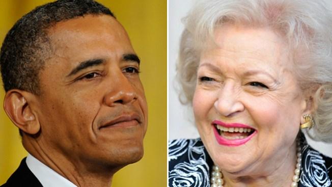 ¿Betty White y Obama?