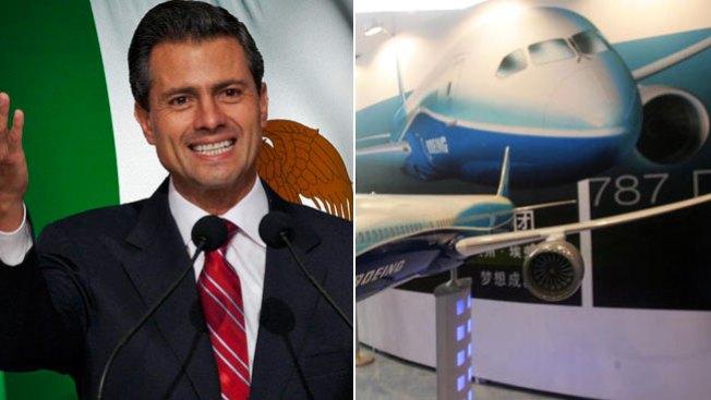 Peña Nieto y su avión de lujo