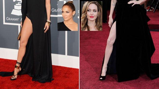 J.Lo y Angelina, ¡guerra de piernas!