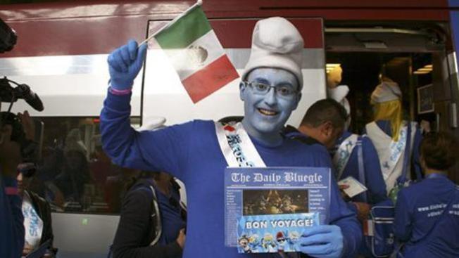 El mundo se llena de hombrecillos azules