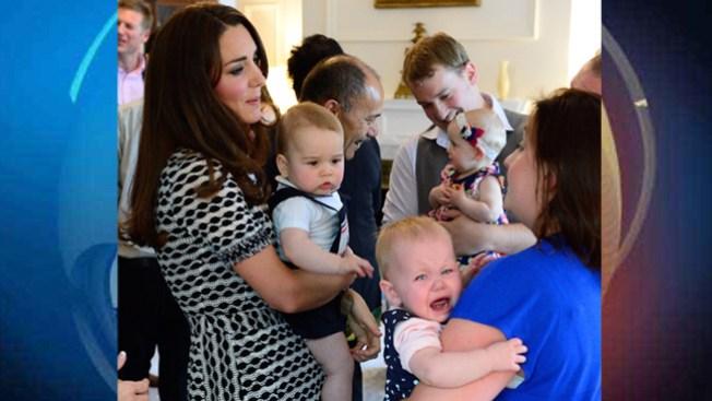 Príncipe George hace llorar a una niña
