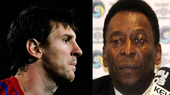 Pelé molesto por cometario de Messi