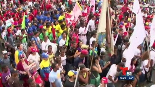 Colectivo se moviliza contra chavistas