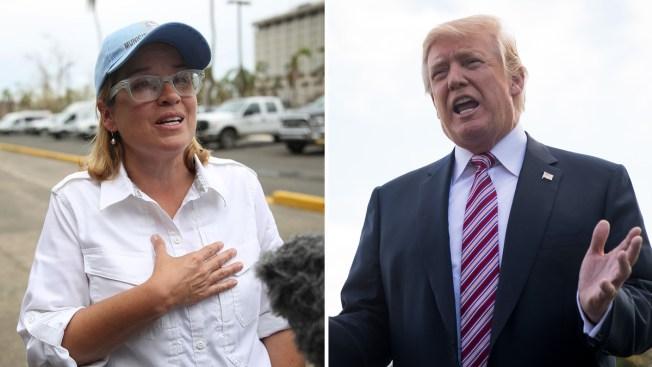 Alcaldesa y Trump entrecruzan acusaciones por ayuda
