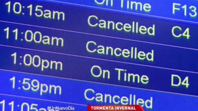 Cancelan miles de vuelos en EEUU