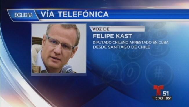 Diputado chileno reacciona tras arresto en Cuba